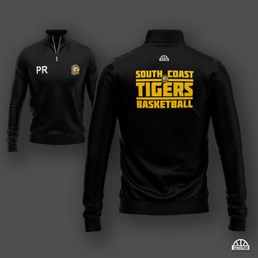 South Coast Tigers (Bournemouth) - 1/4 Zip Warm Up hoodie