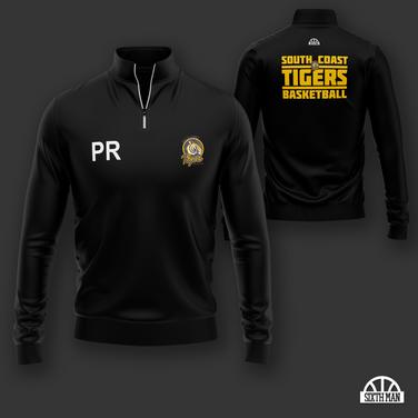 South Coast Tigers 1/4 Zip Tracktop
