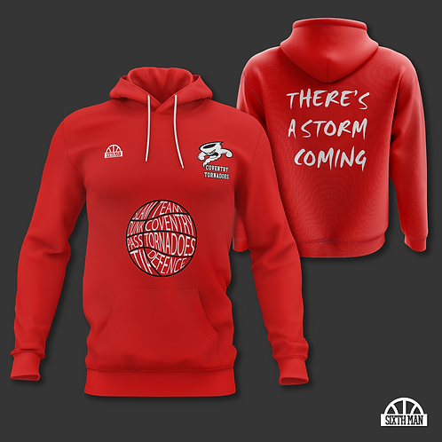 Coventry Tornadoes Cotton Hoodie - Red