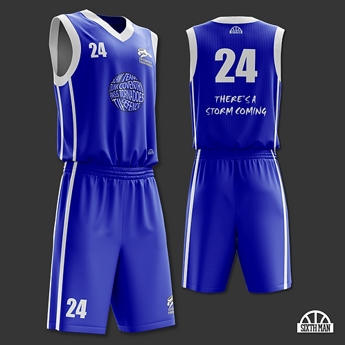 Coventry Tornadoes Playing Kit - BLUE