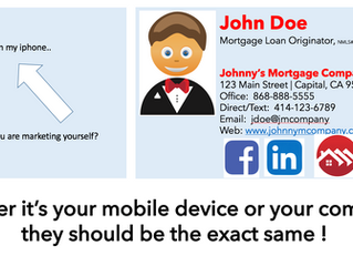 BOTH of your email signatures are a digital form of your business card!