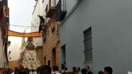 """Camerata de """"Los Polillas"""" con nuestra Patrona"""