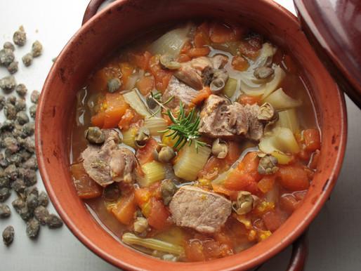 クットゥリッディ(バジリカータ風豚肉の煮込み ケッパー風味)