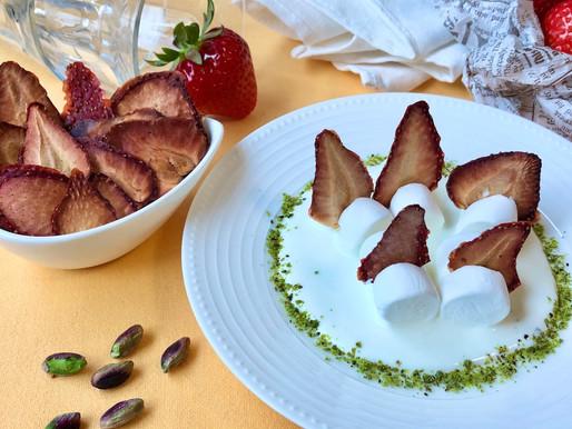 いちごとマシュマロのヨーグルトデザート