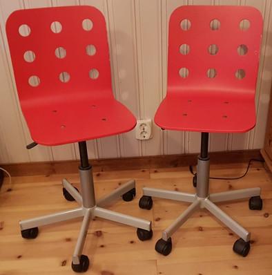 Skrivbordsstol (2x), IKEA, 50 kr/st