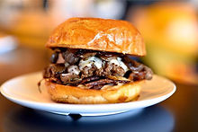 Mushroom Burger - Bernie's Burger Bus