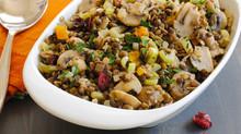 Warm Lentil & Mushroom Salad