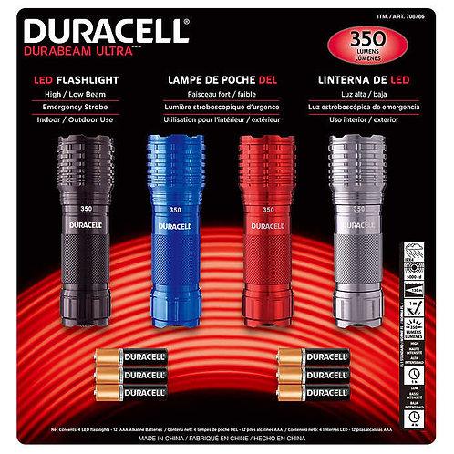 Linternas LED Duracel 4 Un.