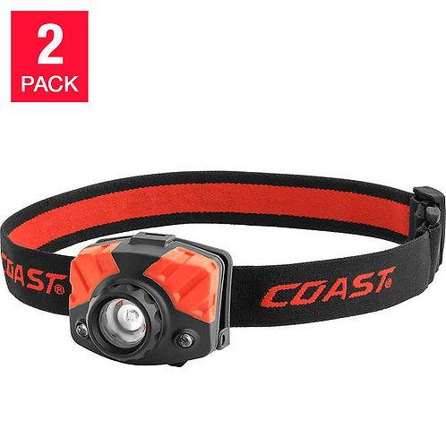 Linterna LED p/ cabeza Coast 2 Un.
