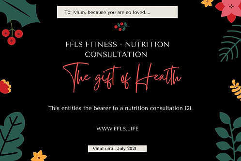 Nutritional Consultation Gift Voucher