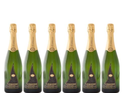 6 bottiglie - Spumante Metodo Classico Brut Riserva L'EREDE - Cupelli