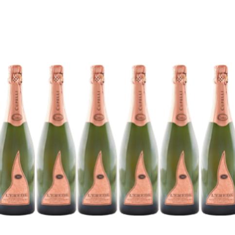 6 bottiglie - Spumante Metodo Classico Brut Rosé L'EREDE - Cupelli