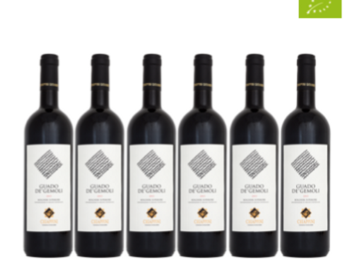 6 bottiglie - Bolgheri Superiore GUADO DE' GEMOLI 2016 - Chiappini