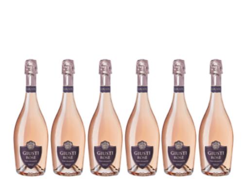 6 bottiglie - Vino Spumante Brut Rosé - Giusti Wine
