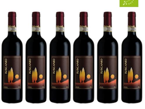 6 bottiglie - Suvereto Sangiovese TUSCANIO 2014 - Bulichella