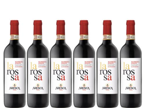 6 bottiglie - Barbera d'Asti Superiore LA ROSSA 2017  - Aresca