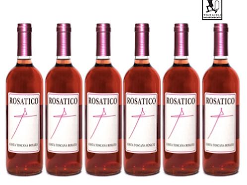 6 bottiglie - Costa Toscana Rosato ROSATICO 2017 - Poggio al Grillo