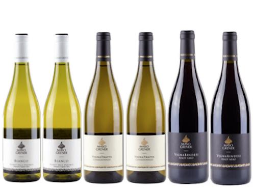 """6 bottiglie - Cassa mista Maso Grener: """"Il Trentino nel bicchiere"""""""