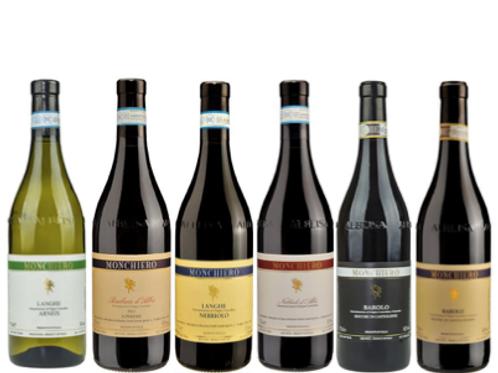 "6 bottiglie - Cassa mista Monchiero:""Le Langhe nel bicchiere"""
