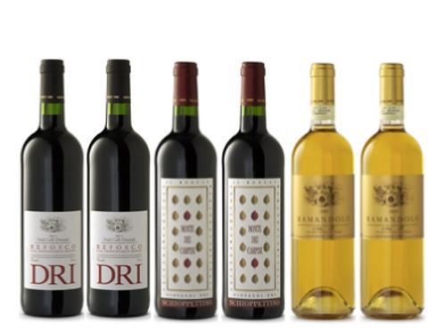 """6 bottiglie - Cassa mista Giovanni Dri Il Roncat:""""Il Friuli più affasci"""