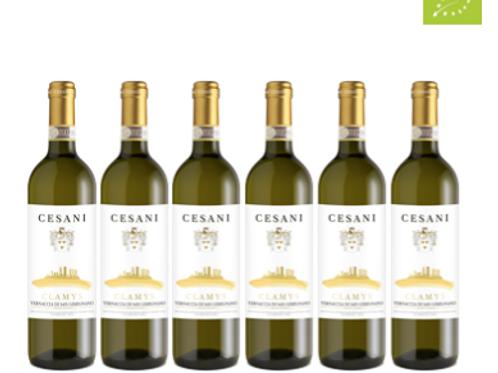 6 bottiglie - Vernaccia di San Gimignano CLAMYS 2018 - Cesani