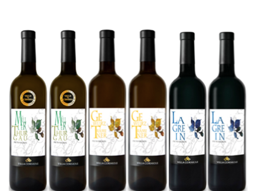 """6 bottiglie - Cassa mista Villa Corniole:""""L'ELEGANZA DEI VIN IDI MONTAGNA"""""""