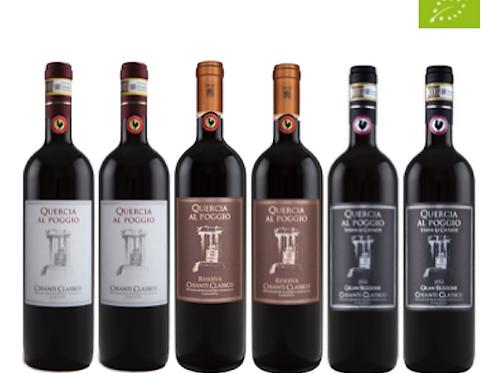 """6 bottiglie - Cassa mista Quercia al Poggio: """"IL CHIANTI CLASSICO"""""""