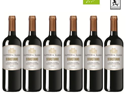 6 bottiglie - Colline Lucchesi Rosso SEBASTIANO 2018 - Fattoria Sardi