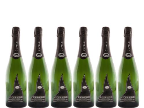 6 bottiglie - Spumante Metodo Classico Brut L'EREDE - Cupelli