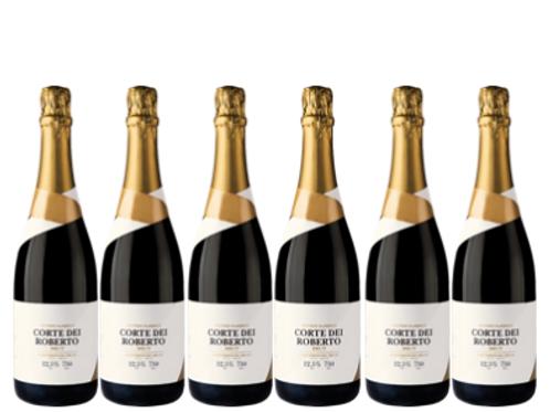 6 bottiglie - Spumante Metodo Classico Brut - CORTE DEI ROBERTO