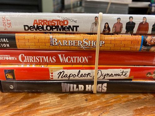 DVD- Christmas Vacation, Arrested Development season1, Barber Shop