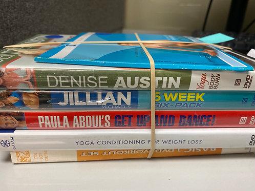 DVD- Jillian Michaels 6 week 6 pack, Yoga for Weight Loss,