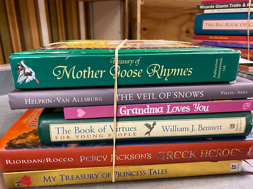 Myths,fables,legends - mother goose,Percy Jackson, virtue