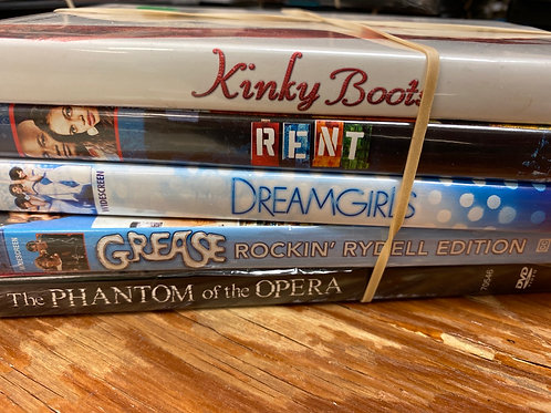 DVD- Grease,Rent, Dreamgirls