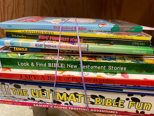 Games - riddles, Bible fun book, Bible look and find