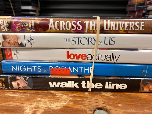 DVD- The Story of Us, Love Actually, Walk the Line