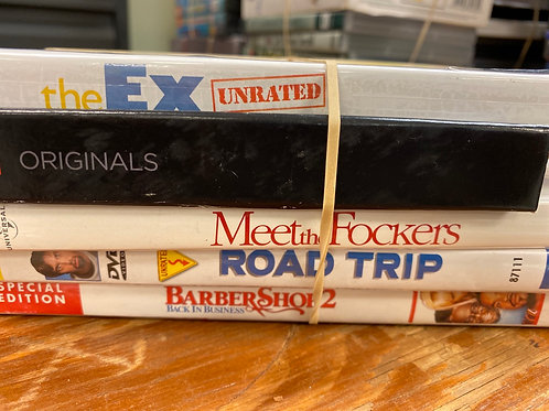 DVD- Road Trip, Meet the Fockers, Barbershop 2