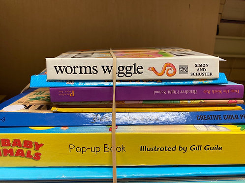 Popup books - animals, worms, Jack and the Beanstalk