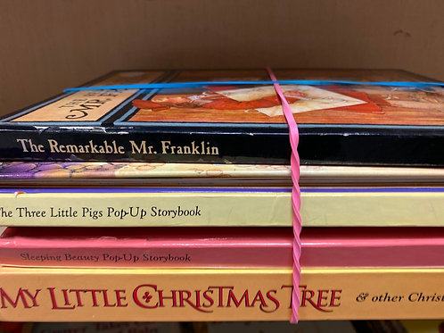 Popup books - Christmas, Sleeping Beauty, Three Little Pigs