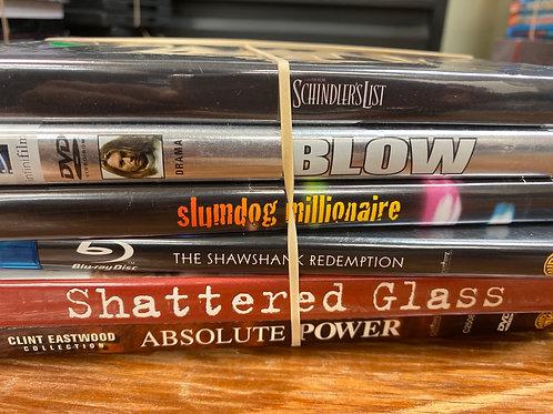 DVD- Schindler's List, Blow, Shawshank Redemption