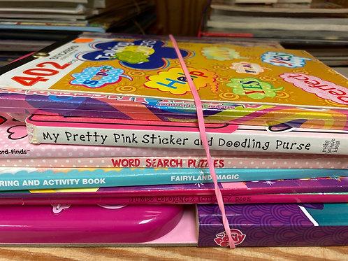 Games - coloring books, stickers, magic erase