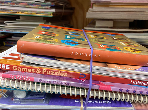 Games - puzzles, journal, paper snowflakes