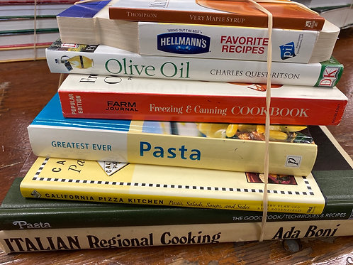 Cookbooks- Freezing&Canning, Italian Cooking, Pasta, Olive Oil