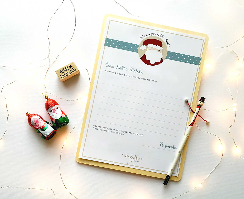 Twelve Days of Christmas - Freebies -Letterina di Babbo Natale  - www.ConfettiMood.com