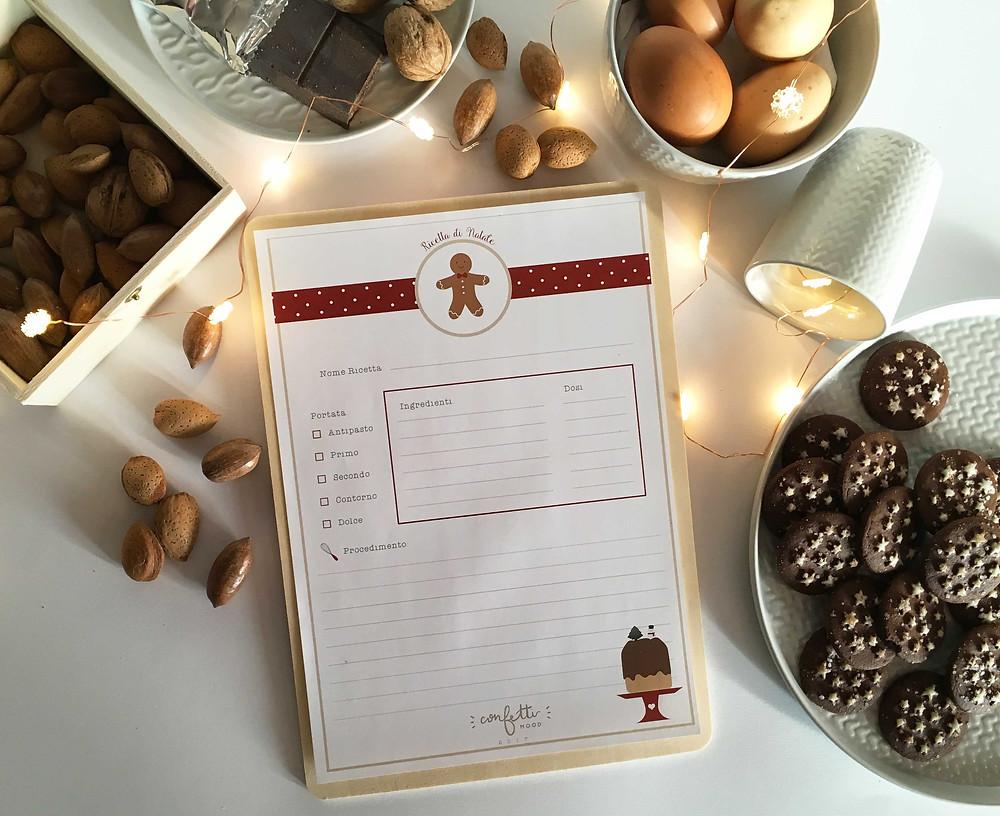 Twelve Days of Christmas - Freebies -Ricettario - www.ConfettiMood.com