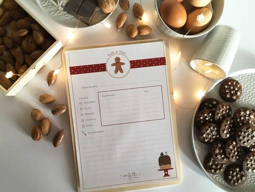 Twelve Days of Christmas – Giorno 5: Printable per una Ricetta di Natale