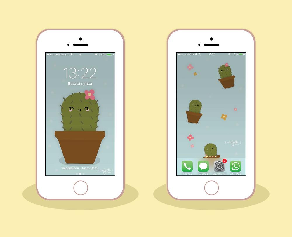 Freebies - Sfondo iPhone Maggio - www.ConfettiMood.com
