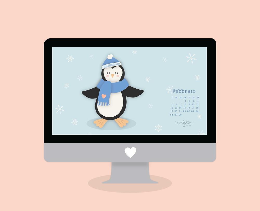 Freebies - Sfondo PC MAC Febbraio - www.ConfettiMood.com