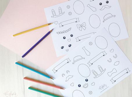 Stampa, Colora e Decora - Freebie di Pasqua per bambini