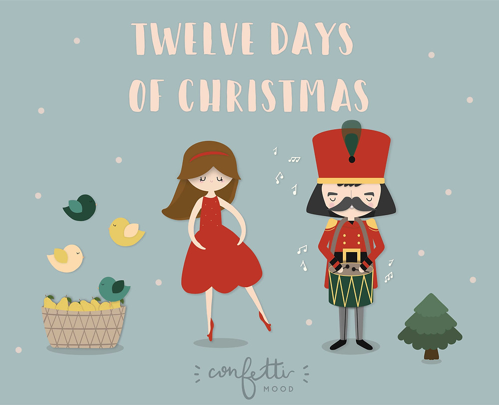 Twelve Days of Christmas - www.ConfettiMood.com